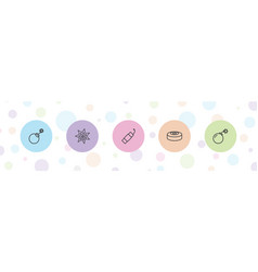 Explosion icons vector