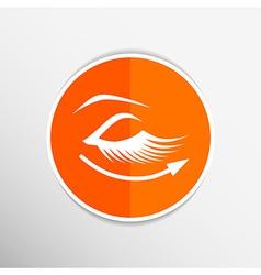 Eyelashes eye icon clip isolated human soft vector