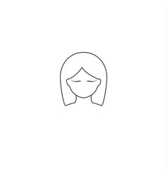 femininity logo elements vector image