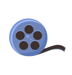 Film reel cinema and movie theatre related object vector