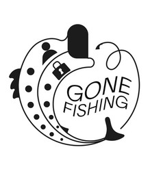 Fishing hook catch login and account password vector