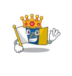 Flag canary island scroll a stylized king vector