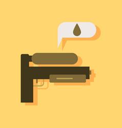 Flat icon design collection water gun in sticker vector