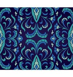 Floral blue ornament vector