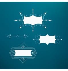 Flourishes Calligraphic Frame Retro Design vector