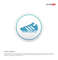 Football boot icon - white circle button vector