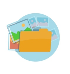 icon folder with pictures vector image