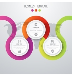 infographics three options vector image