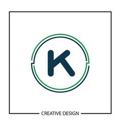 Initial letter k logo template design vector