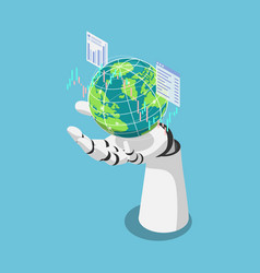 isometric ai artificial intelligence analysis vector image