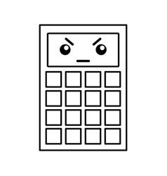 Kawaii calculator cartoon vector