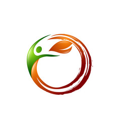 Leaf creative concept logo design template vector