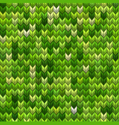 light and dark green knit seamless pattern eps 10 vector image