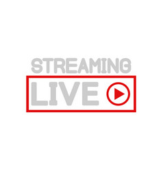live streaming and online video icon in flat vector image
