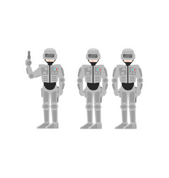 men in costume of astronauts spacemen vector image