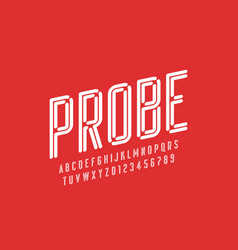 modern font design vector image