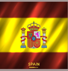 National spain flag background vector
