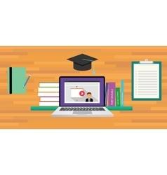Online or digital learning vector