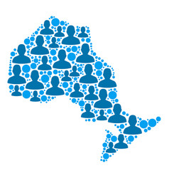 Ontario province map population demographics vector