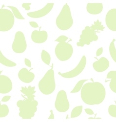 Pastel color fruit pattern vector image
