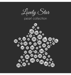 Perls Pearl in star shape White pearls vector