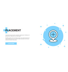 Placement icon banner outline template concept vector