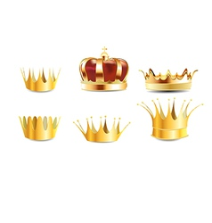 Realistic crown vector