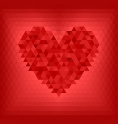 red triangle heart vector image