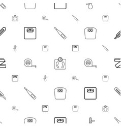 scale icons pattern seamless white background vector image
