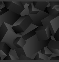 seamless pattern of abstract 3d cubes vector image