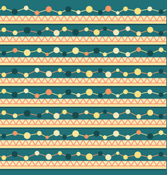 seamless pattern with lines zigzag and circles vector image