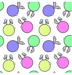 seamless pattern with rabbit ears vector image