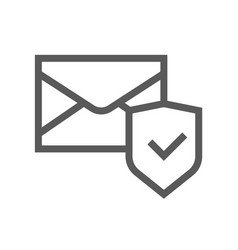 security and protection line icon vector image
