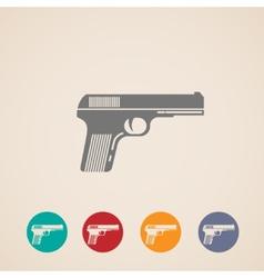 Set gun icons vector