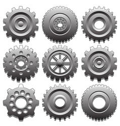 Set of gear wheels vector image