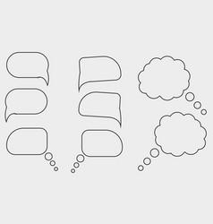 Set speech bubbles vector