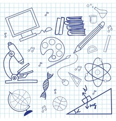 Sketch of education doddle elements vector