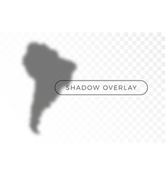 south america world map shadow realistic grey vector image