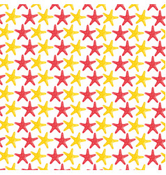 Starfishes shells animals pattern background vector