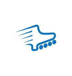 Stripes fast inline skate line logo vector