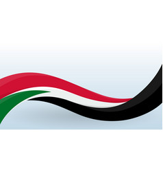sudan waving national flag modern unusual shape vector image