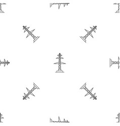 Telephone pole pattern seamless vector
