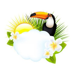 Tropical With Toucan vector image