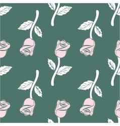 Vintage seamless pattern roses vector