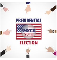 Voting conceptBusinessman hand and voting paper vector image