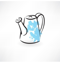 watering can grunge icon vector image