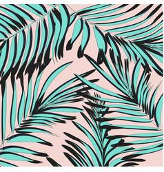 tropical palm leaf background floral vector image