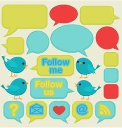 twitter social media ui vector image