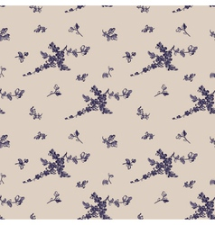 Vintage seamless flower pattern gzhel vector