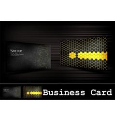 black business card set vector image
